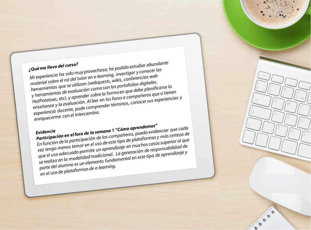 Portfolio Capacitación de Tutores de E-learning