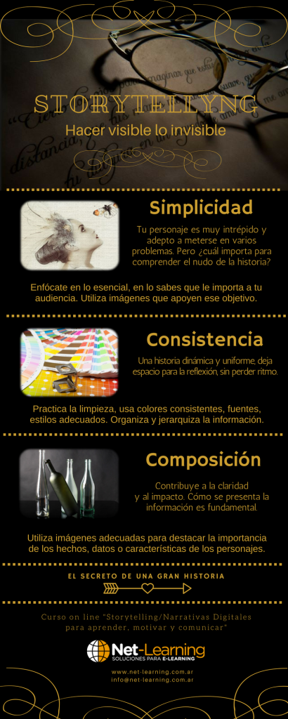 Infografía con claves para un storytelling memorable